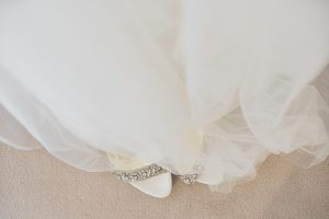 wedding dress and shoes Elmore court photography
