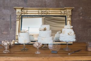 three wedding cakes Elmore court photography