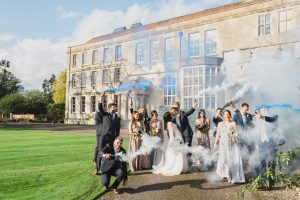 Elmore court wedding smoke bomb photography