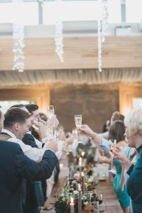 guests giving a cheers Elmore court photography