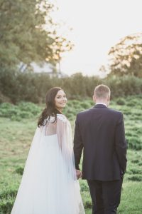 bride smiling at gloucestershire wedding photographer Elmore court