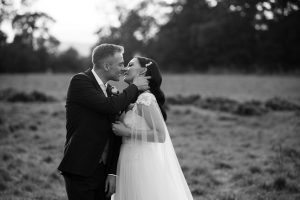 Elmore court evening wedding couple