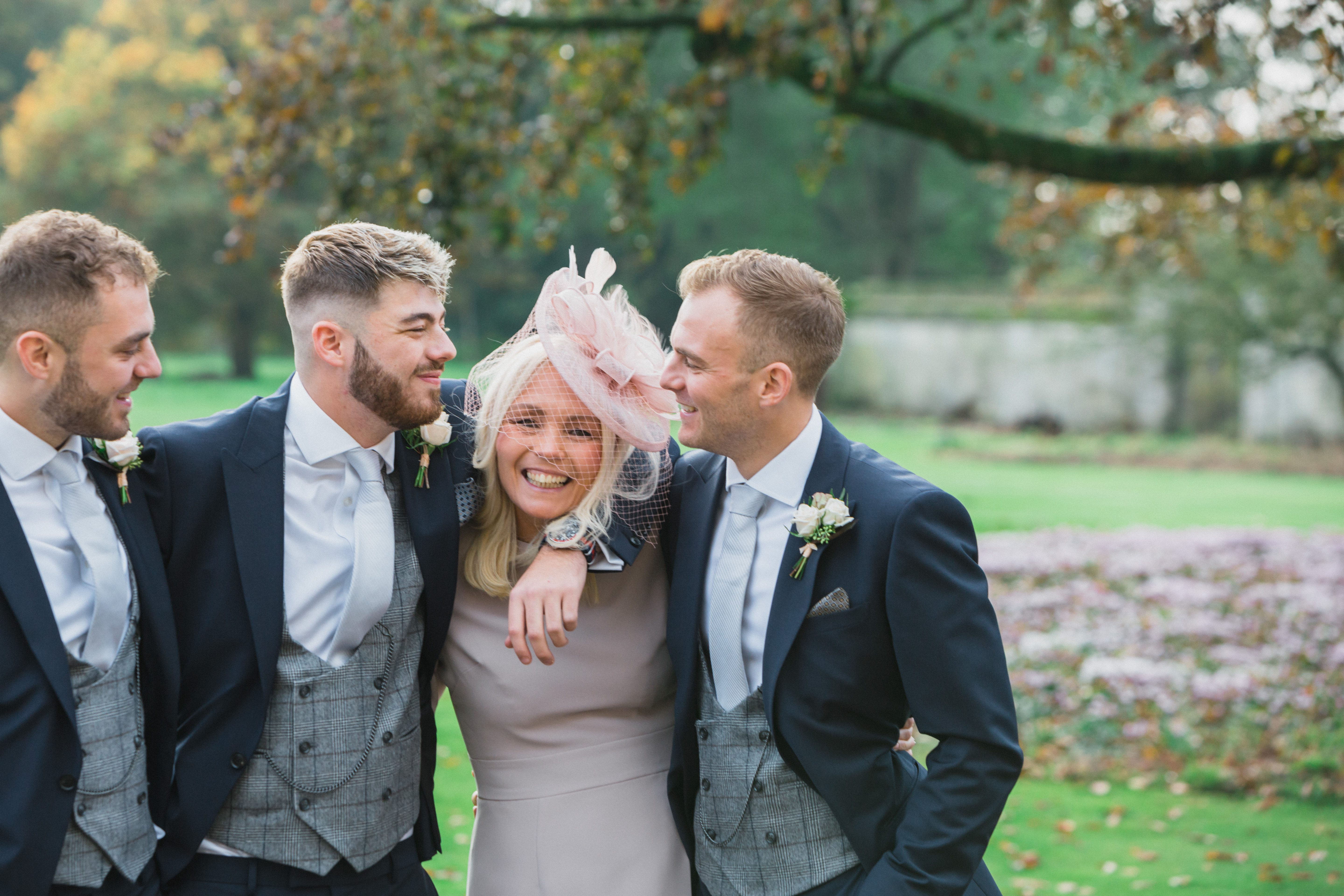 mother of the groom with sons Elmore Court wedding