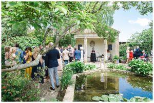 Barnsley House temple wedding photography