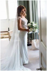 bride with bouquet Barnsley house photographer