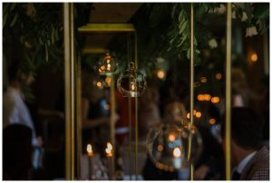 indoor wedding breakfast Barnsley House wedding photography