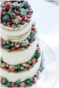 semi naked wedding cake vanilla pod bakery Barnsley house
