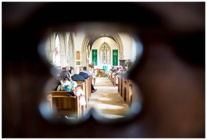 Gloucestershire wedding photographer church key hole