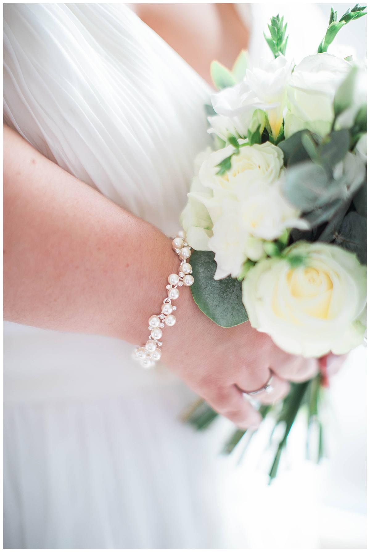 bracelets on bride