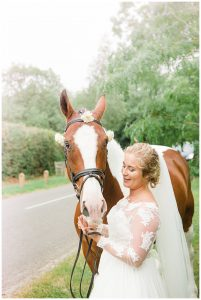 bride with horse stratford wedding photographer