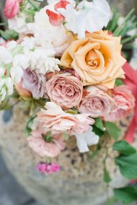 pink and yellow wedding bouquet no 131 cheltenham photography