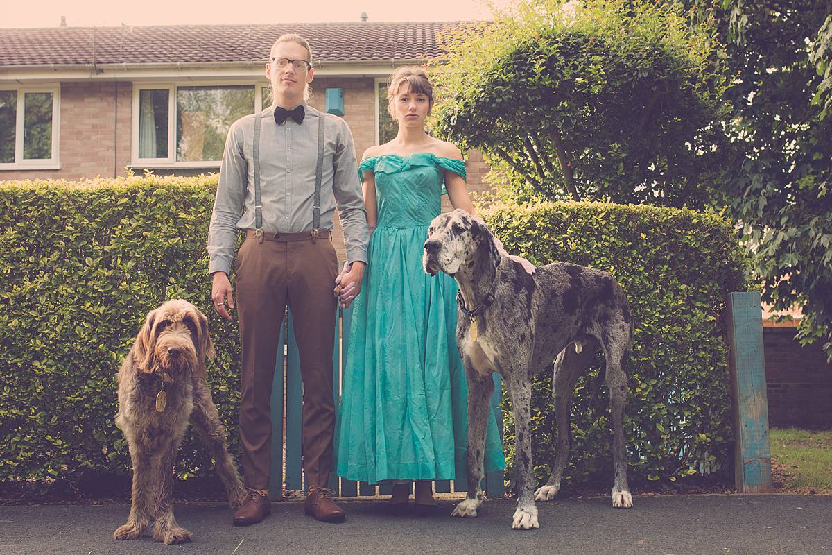 wes Anderson engagement photography bristol