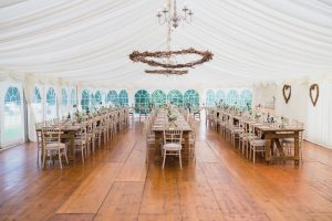 rustic wedding breakfast marquee