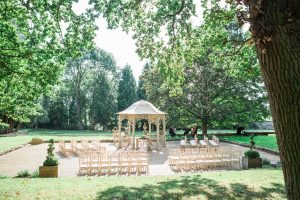 outdoor ceremony eastington park with music