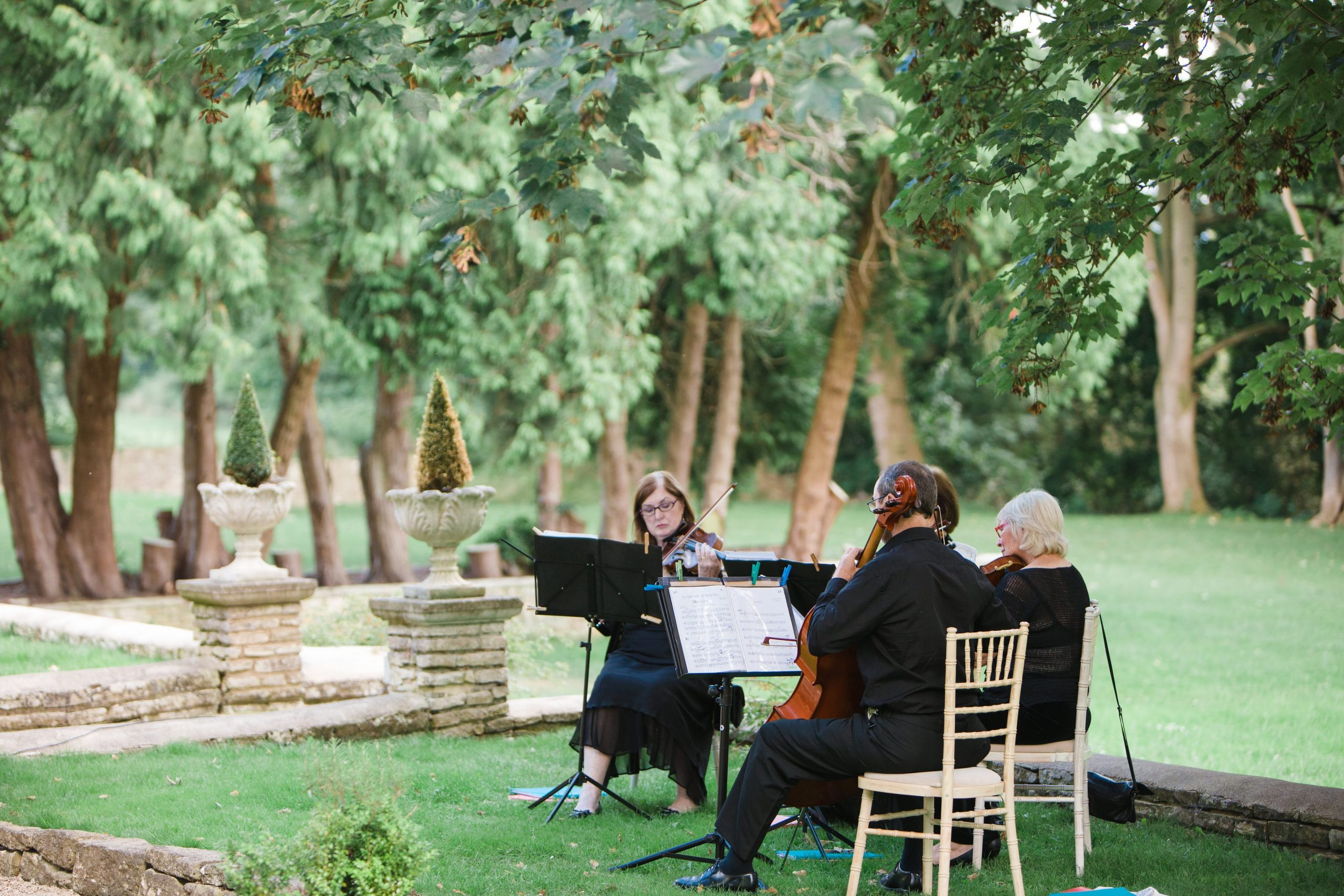 string quartet eastington park wedding photographer