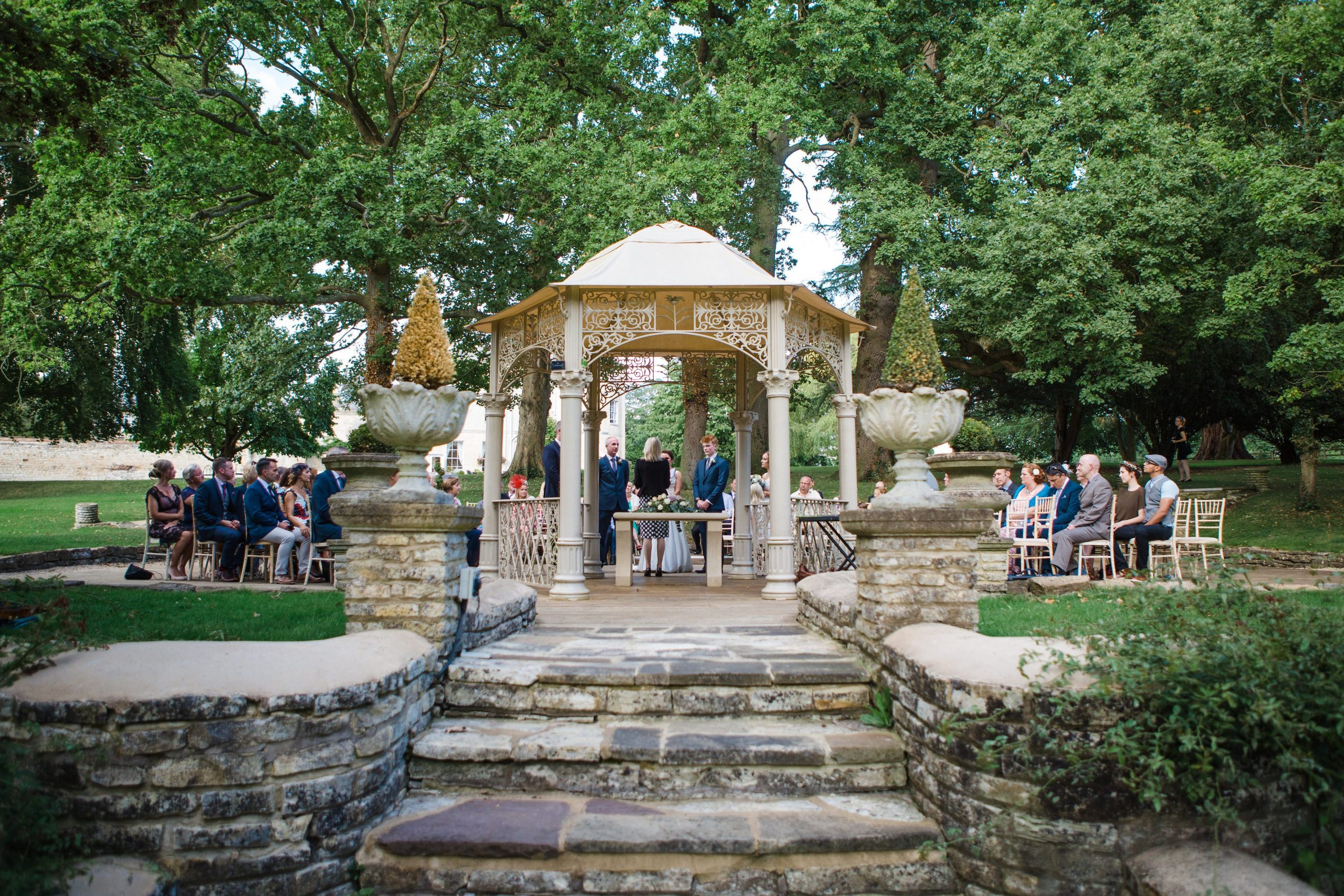 eastington park outdoor ceremony look from behind