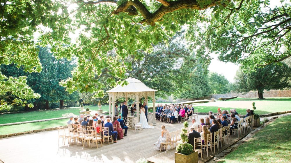 Eastington Park wedding outdoor ceremony