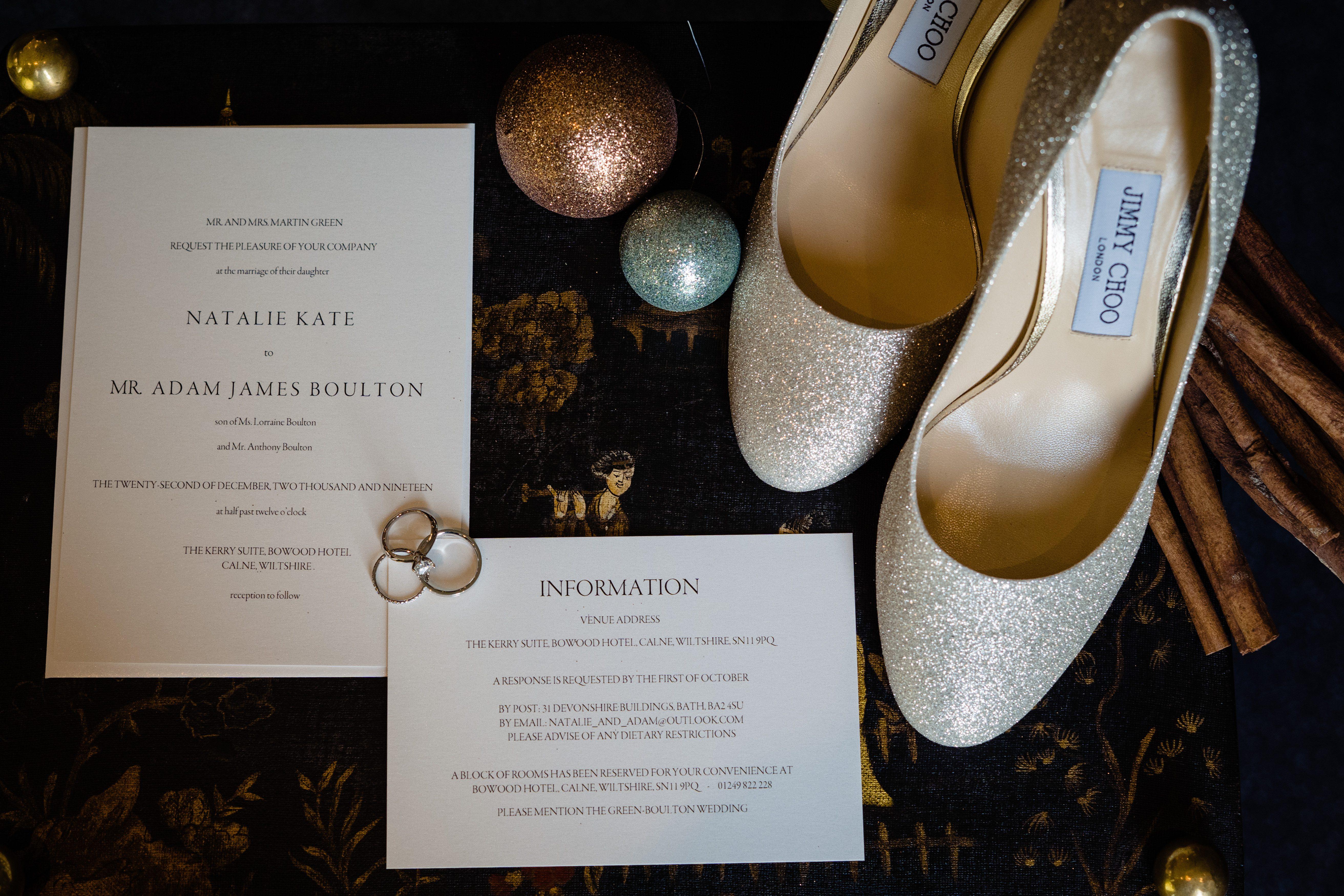 wedding invitation Christmas wedding bowood hotel