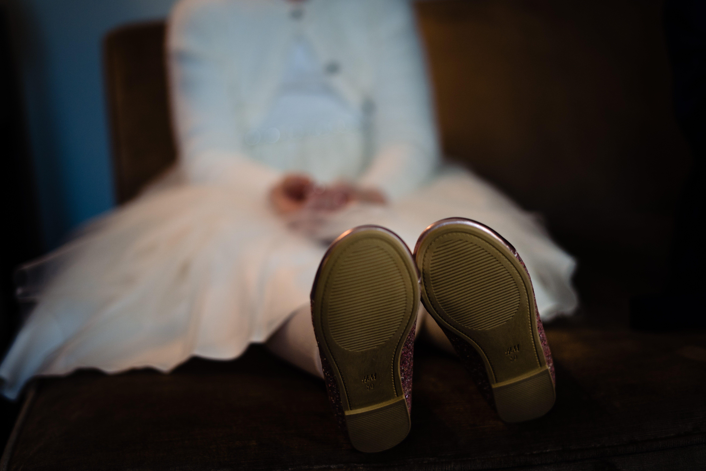 little bridesmaid feet bowood hotel wedding christmas