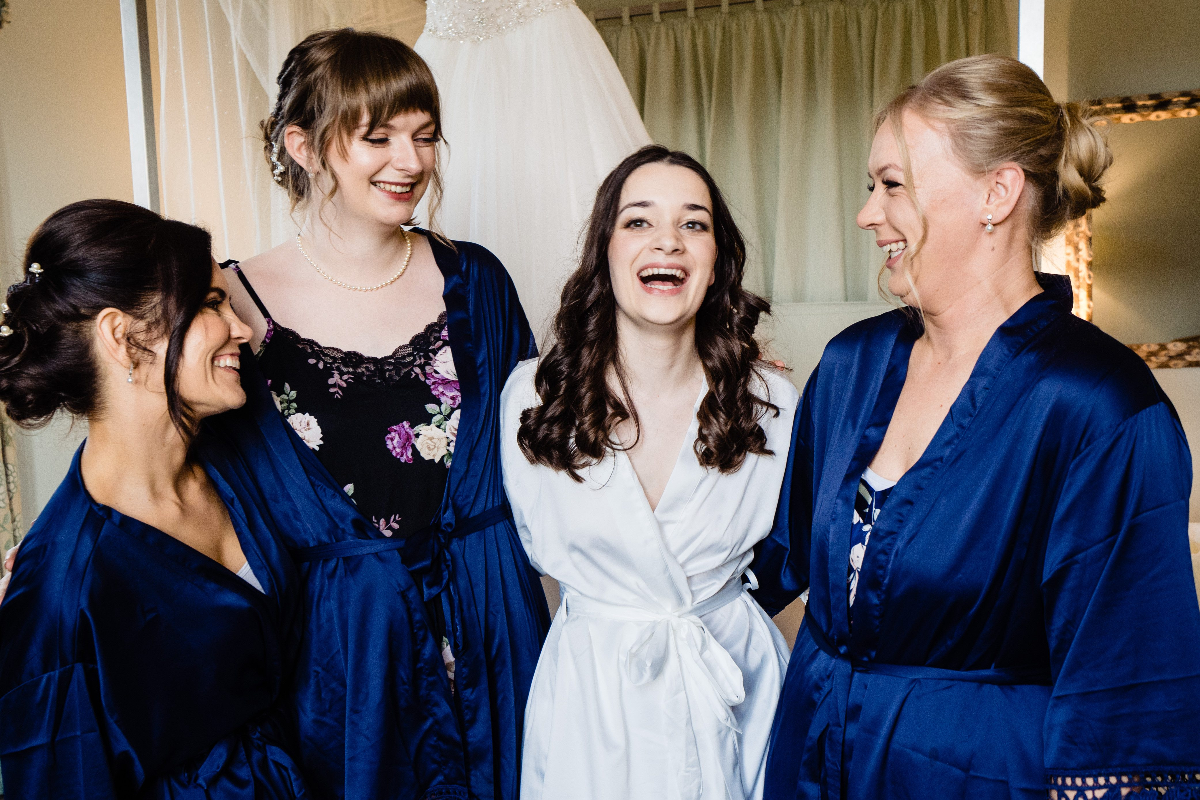 bridesquad laughing bowood hotel wedding