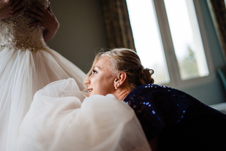 fixing bride dress wiltshire wedding