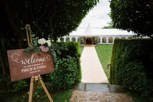 drakestone house wedding marquee