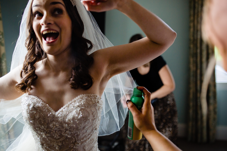 bride putting on deodorant bowood hotel photographer wiltshire