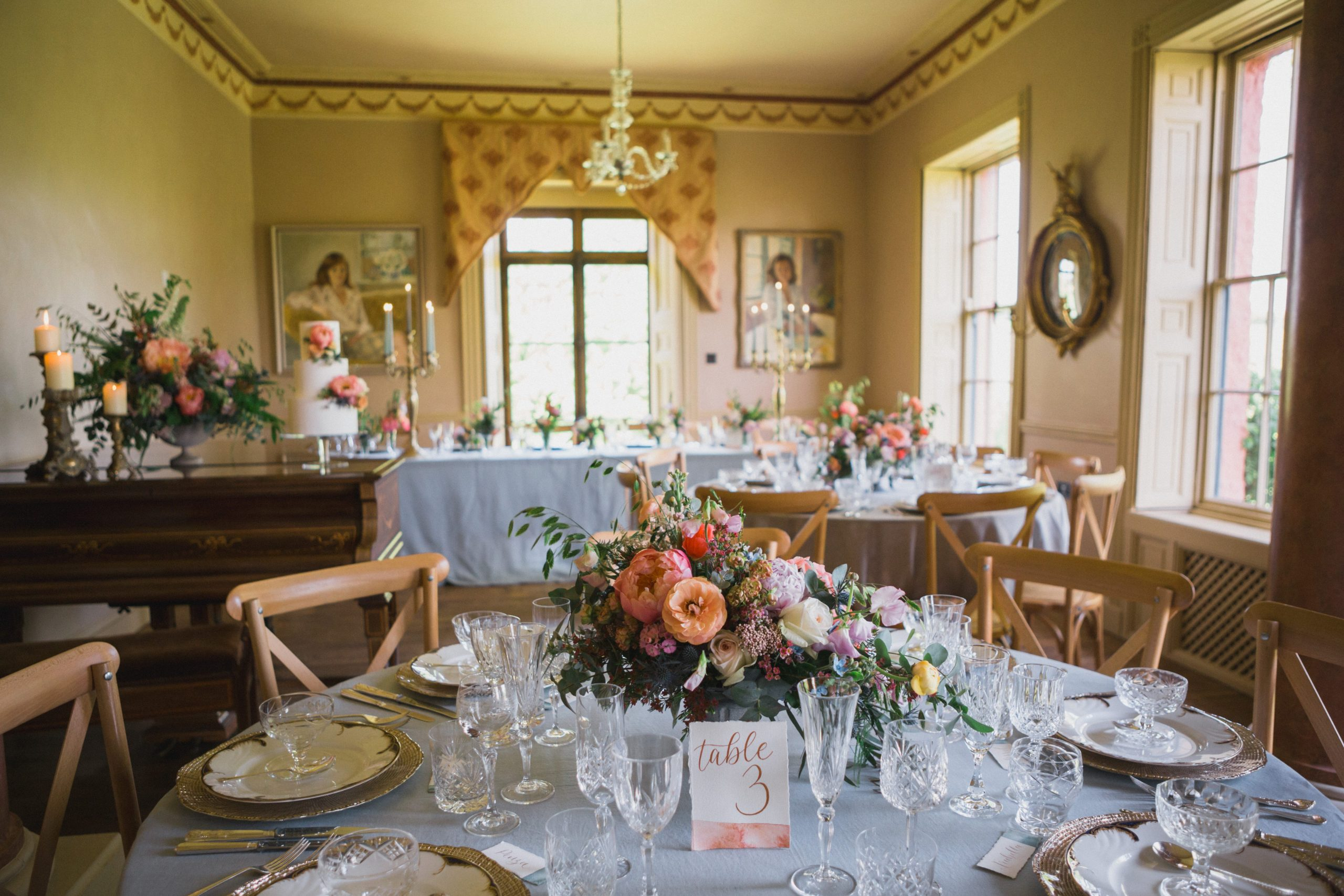 Pauntley Court ballroom wedding