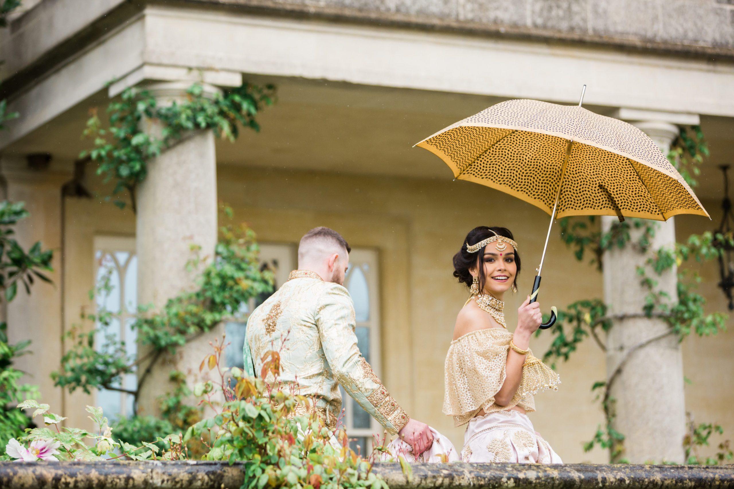 Euridge Manor in the rain wedding