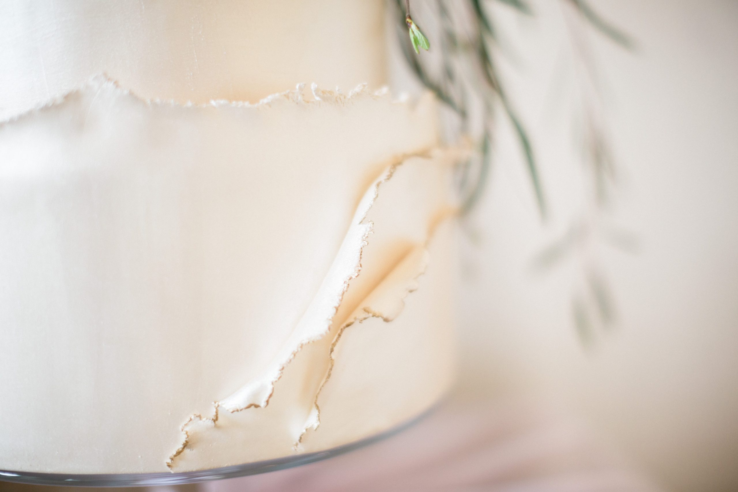 ruffled edge wedding cake Euridge Manor