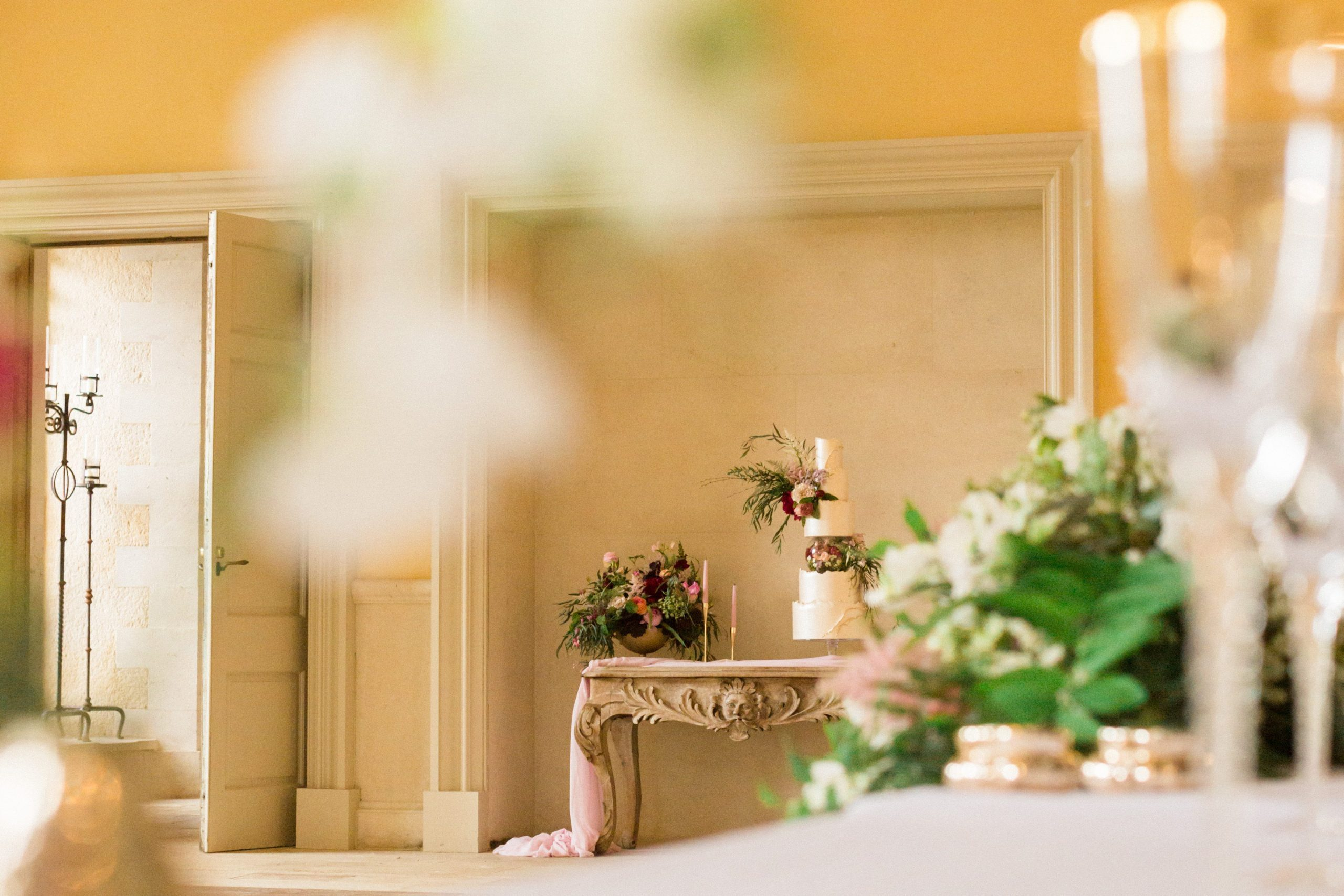 ballroom Euridge Manor wedding cake photographer