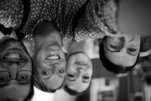 upside down picture with gloucestershire wedding photographer