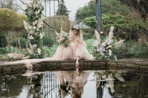 Barnsley House romantic bride cotswold wedding photographers