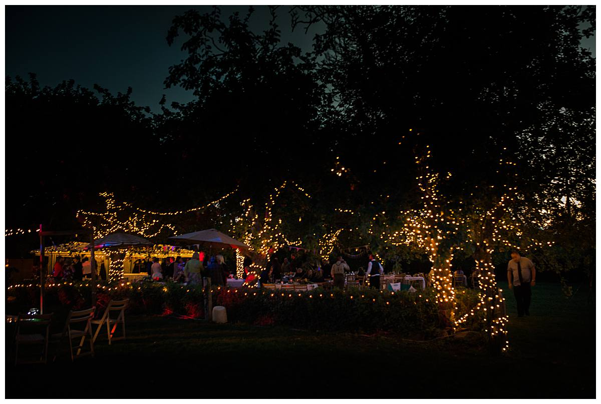 lights in orchard gloucestershire wedding photography