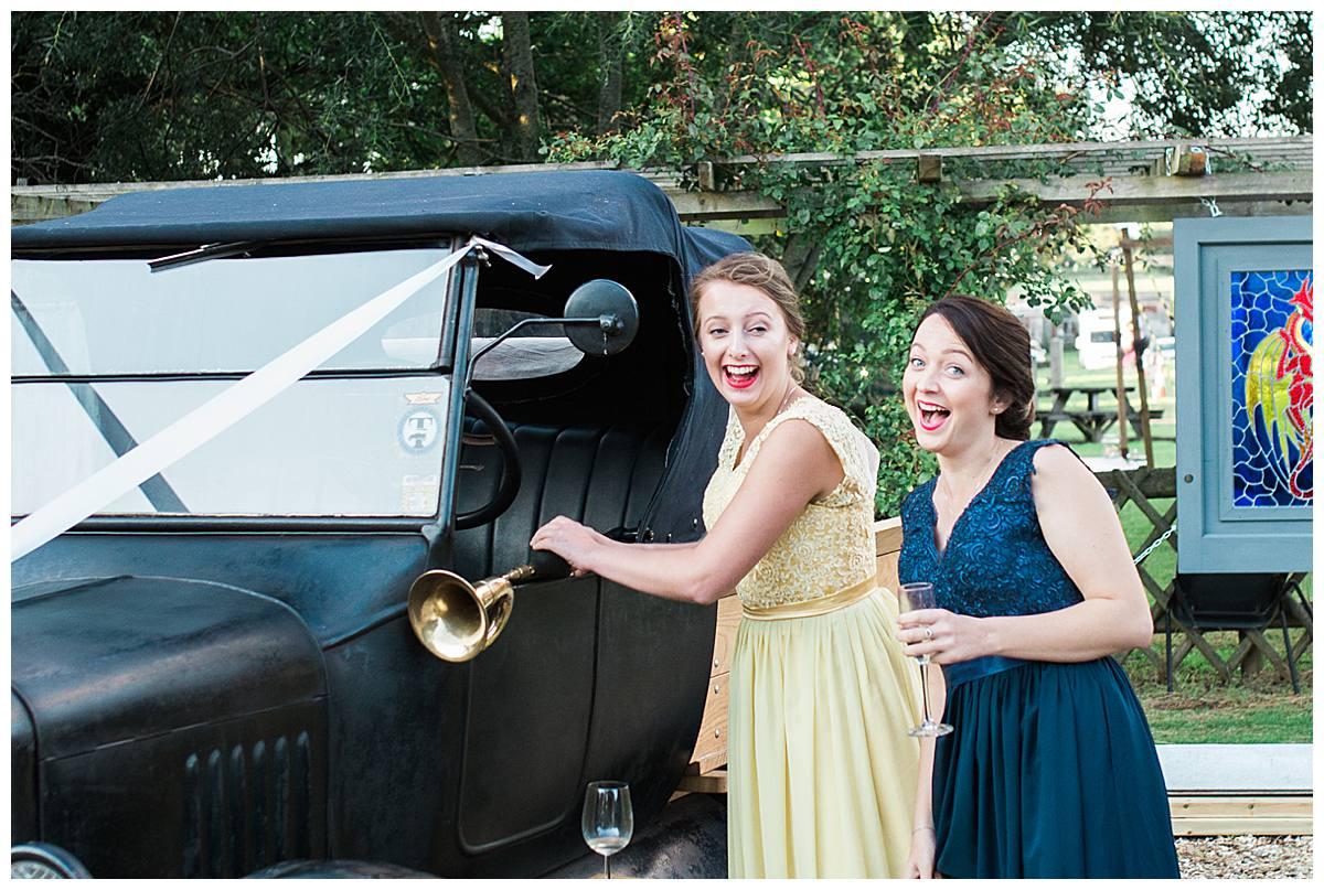 honking old horn gloucestershire wedding photography