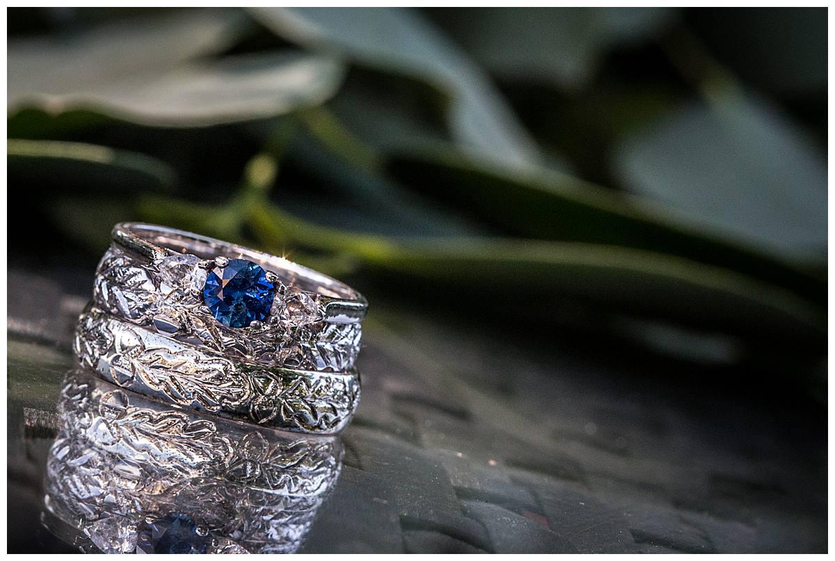 blue wedding ring gloucestershire wedding photography
