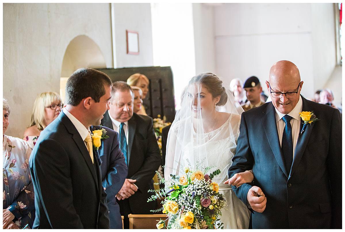 church ceremony gloucestershire wedding photography