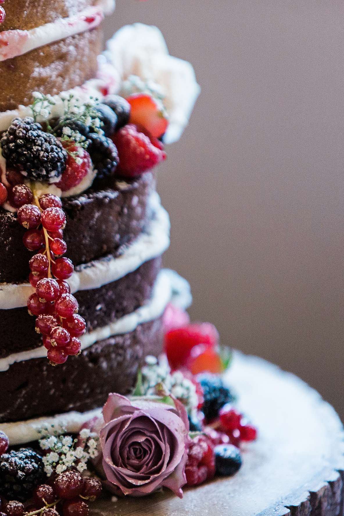 naked wedding cake chocolate cherish cakes