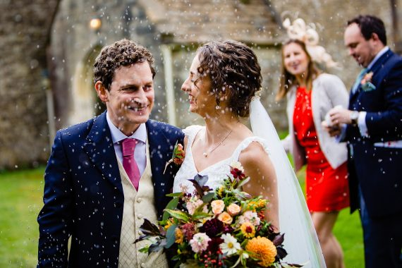 confetti throw micro wedding photographer gloucestershire