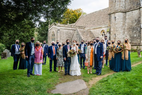 guest during covid micro wedding photographer gloucestershire