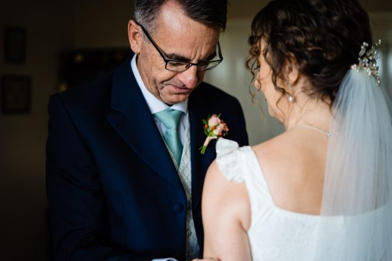 micro wedding photographer dad and daughter