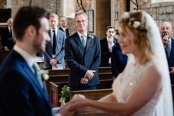 proud dad church ceremony micro wedding photographer