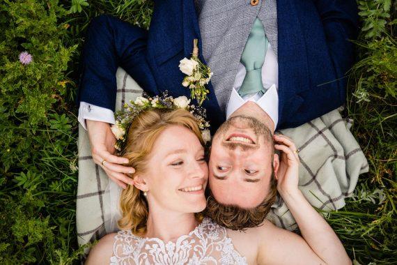 couple on blanket covid micro wedding photographer
