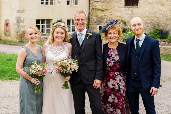family together micro wedding photographer