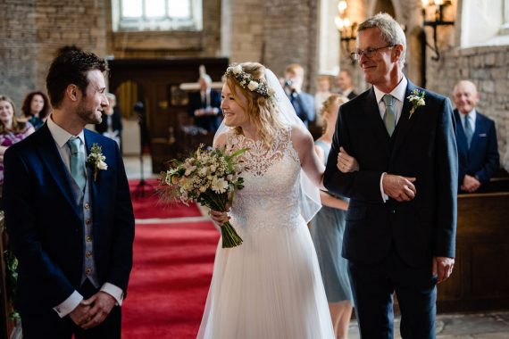 bride walking down aisle covid wedding micro wedding photographer