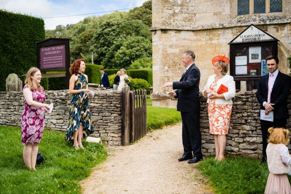 socially distanced guests micro wedding photographer