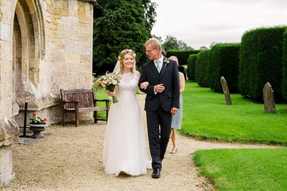 micro wedding photographer bride at church cotswolds