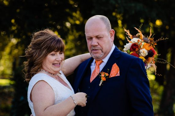 bristol elopement wedding couple with bee